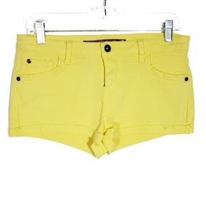 5/$25 Pink Neon Yellow Cut Off Denim Shorts
